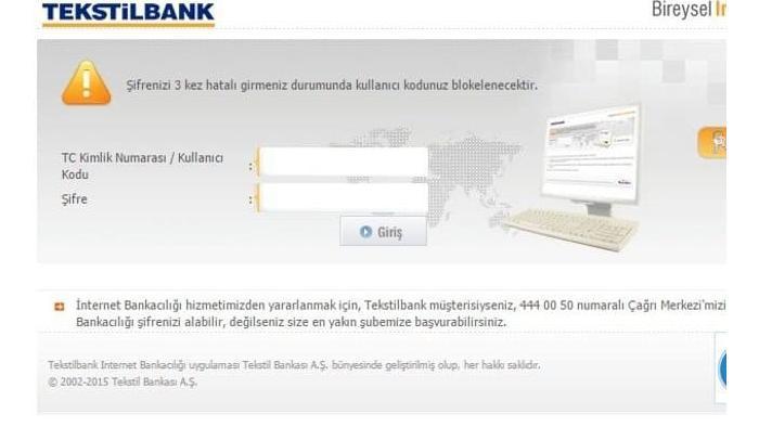 Tekstilbank (ICBC Turkey) internet bankacılığı şifresi nasıl alınır?