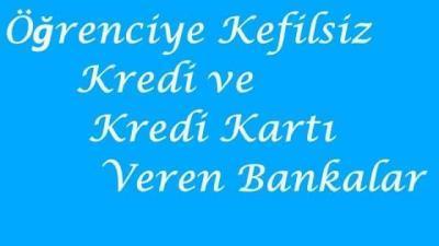 Öğrenciye Kefilsiz Kredi Kartı Veren Bankalar (5000 TL)