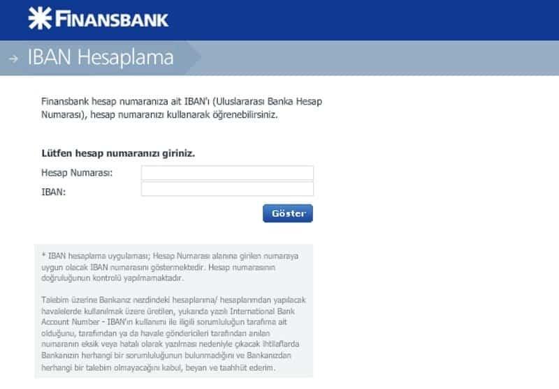 Finansbank İban öğrenme