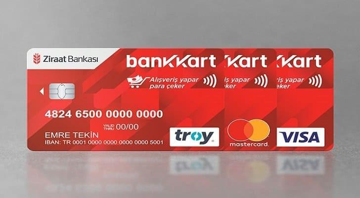 bankakamatik kartında hesap numarası nerede yazar