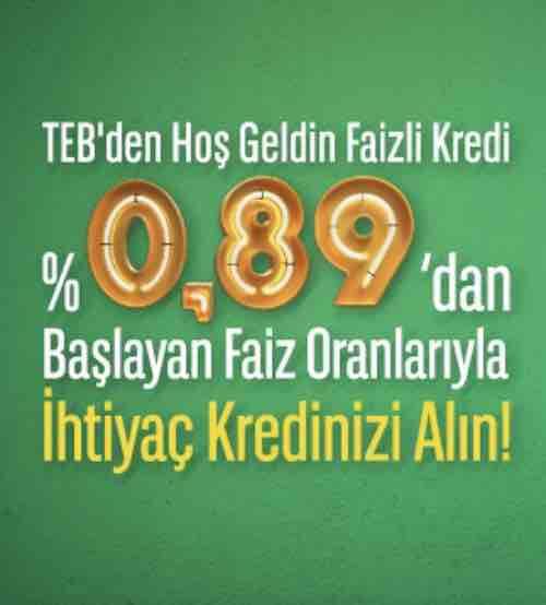 Teb 0.98 Kredi – Türkiye Ekonomi Bankası 0.98 Kredi