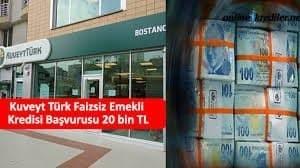 Kuveyt Türk Faizsiz Emekli Kredisi Başvurusu