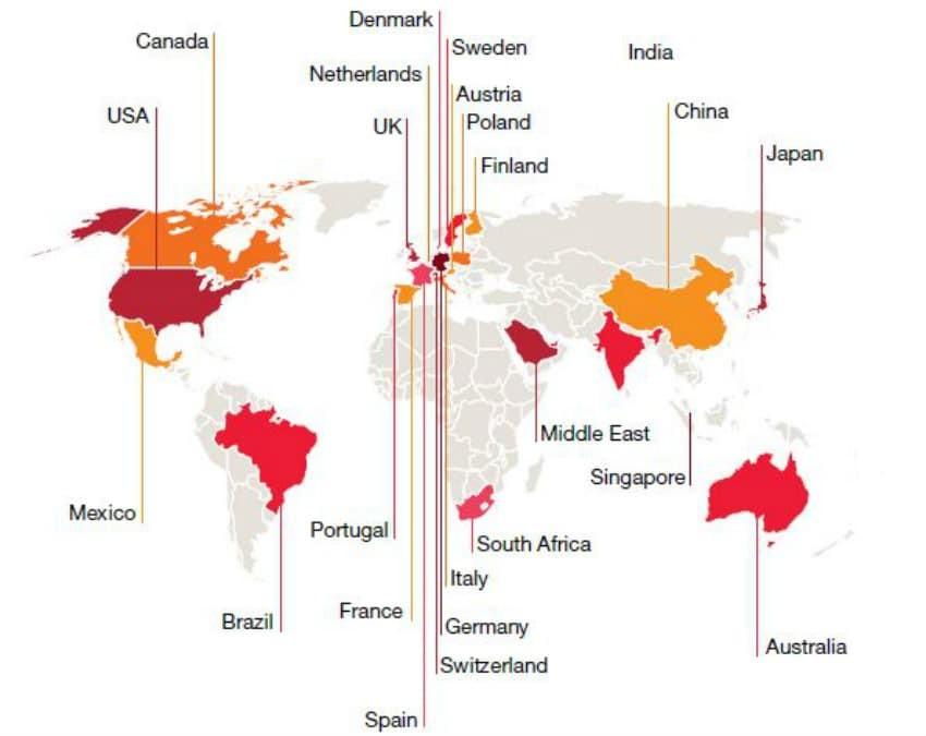 endüstride en büyük hamle yapan ülkeler