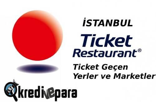 İstanbul Ticket geçen Yerler ve Marketler