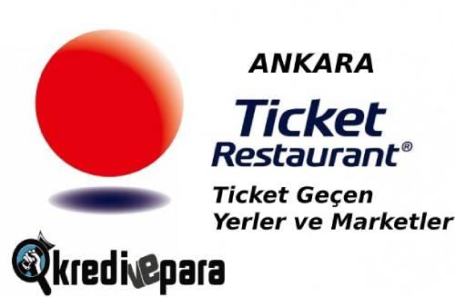 Ankara Ticket geçen Yerler ve Marketler